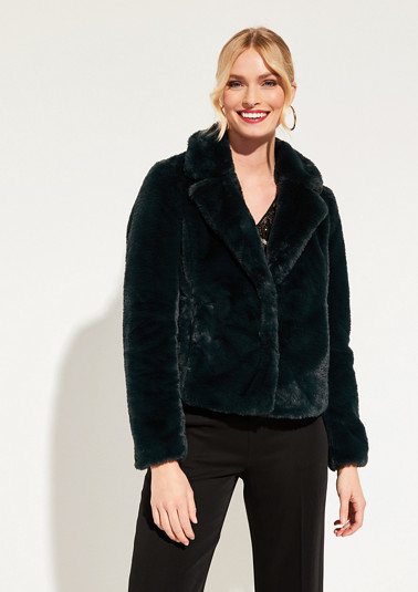 Cosy faux fur blazer from comma