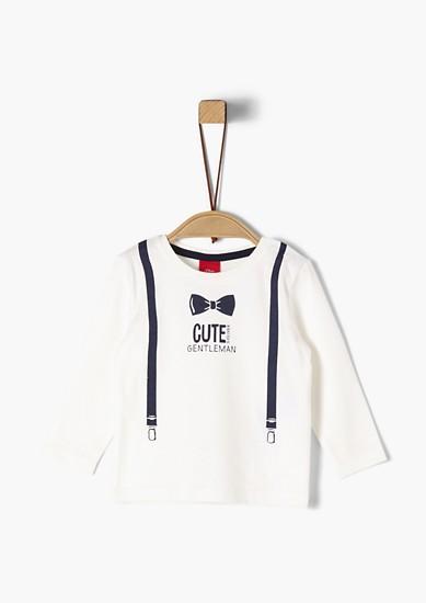 T-shirt à manches longues à bretelles imprimées de s.Oliver