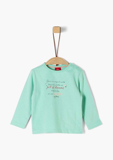 Langarmshirt mit Schriftprint