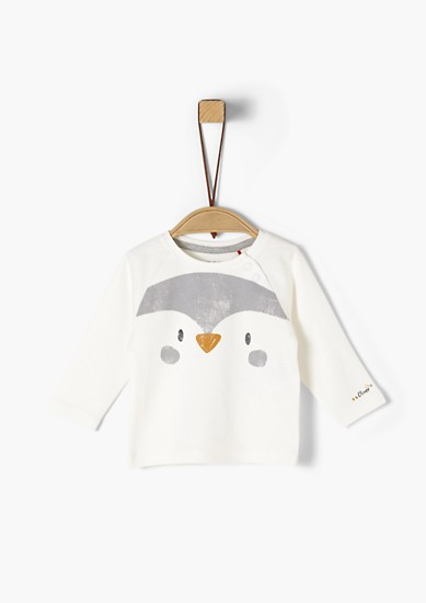 Langarmshirt mit Pinguin-Print