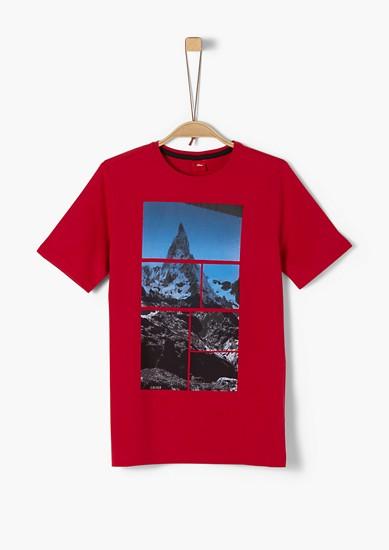 T-shirt en jersey à motif montagne de s.Oliver