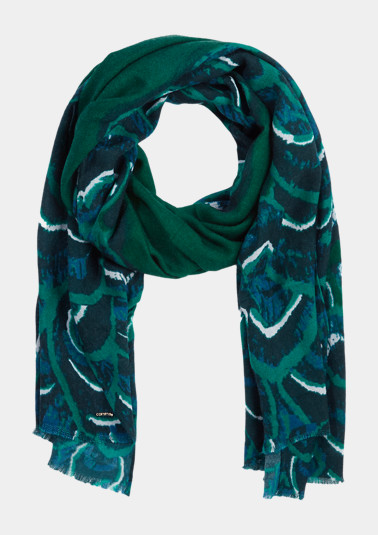 Lightweight knit scarf with an all-over pattern from comma