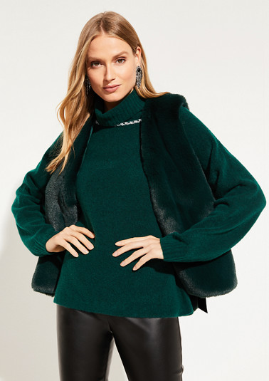 Cosy faux fur waistcoat from comma