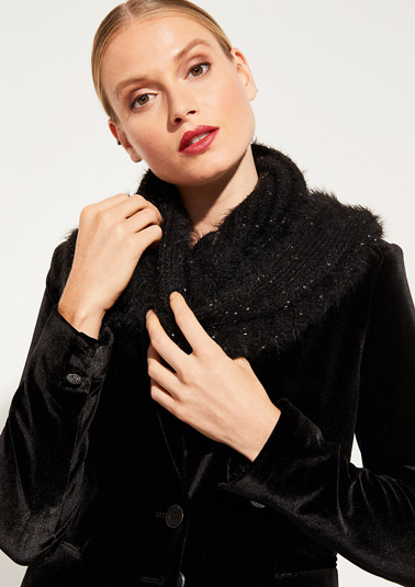 Warm knit snood with decorative sequins from comma