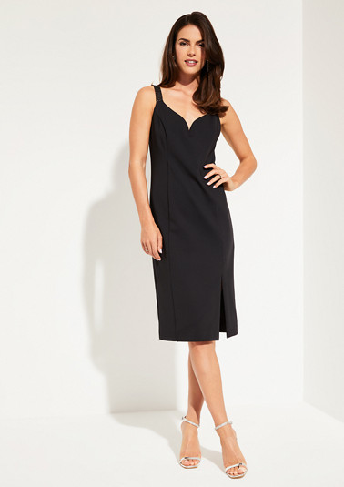 Sheath dress with sparkling Swarovski® crystals from comma