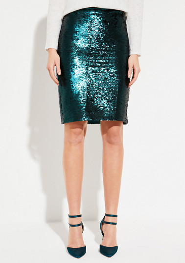 Extravagant skirt with sparkly sequin embellishments from comma