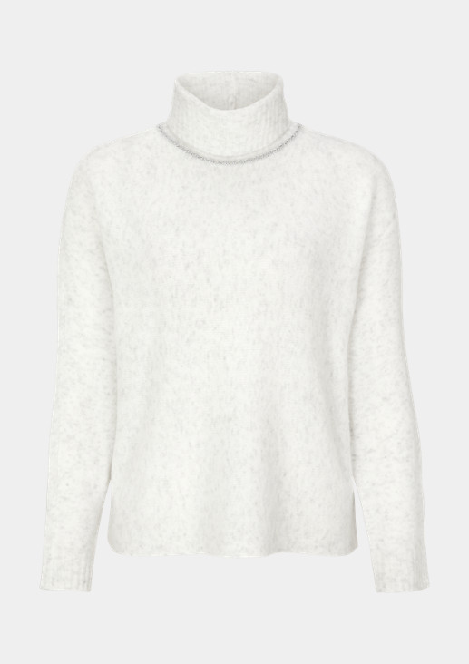 Soft knit jumper with a high polo neck from comma