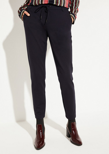 Elegant lounge trousers with fine details from comma