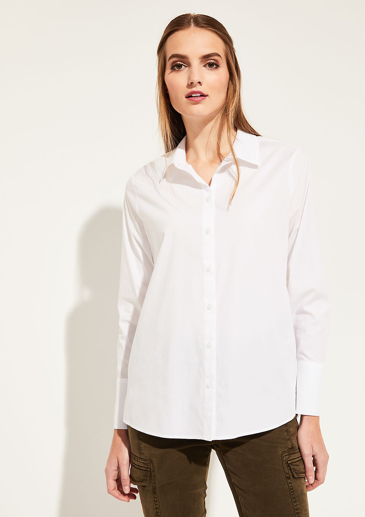 Poplin blouse with decorative details from comma