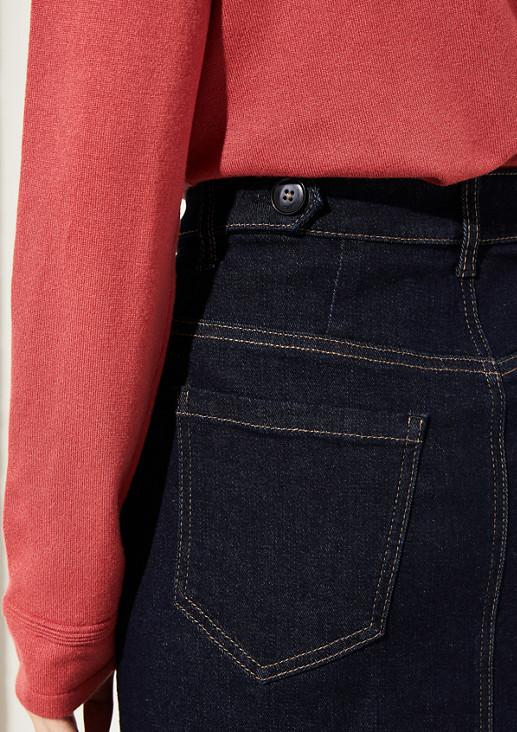 Jeansrock mit raffinierten Details
