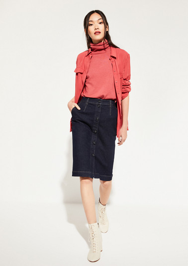 Denim skirt with sophisticated details from comma