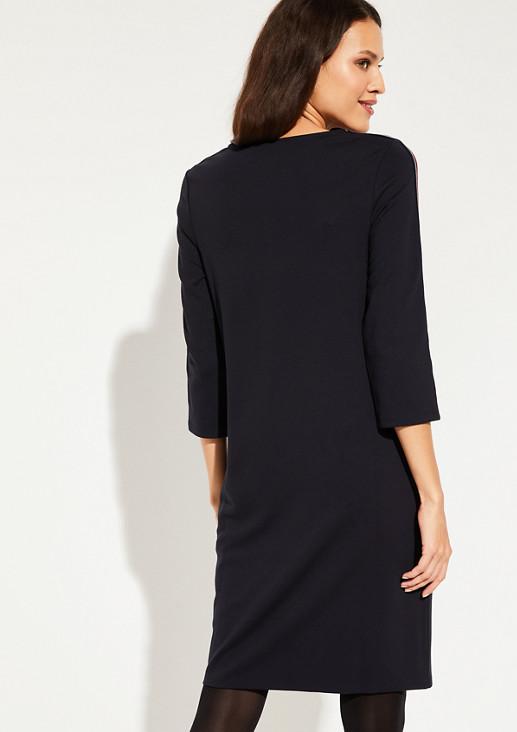 3/4-Arm Kleid mit Streifenverzierungen