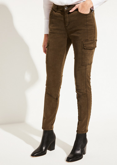 Vintage garment wash cargo trousers from comma