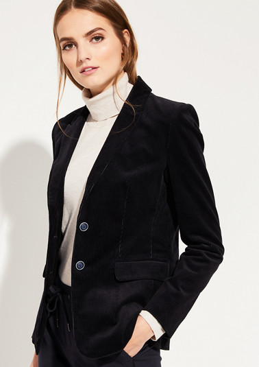 Fine corduroy blazer with sophisticated details from comma