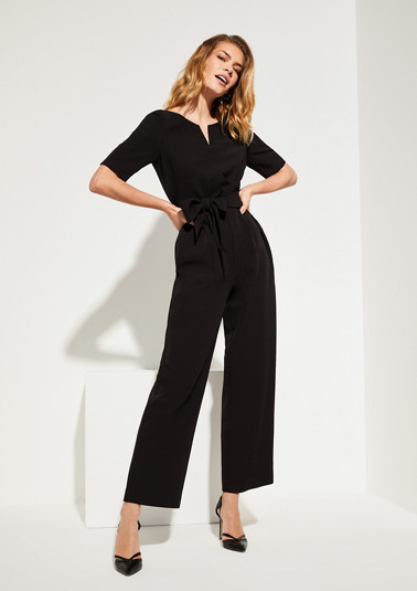 Jumpsuit with a fabric belt tie from comma