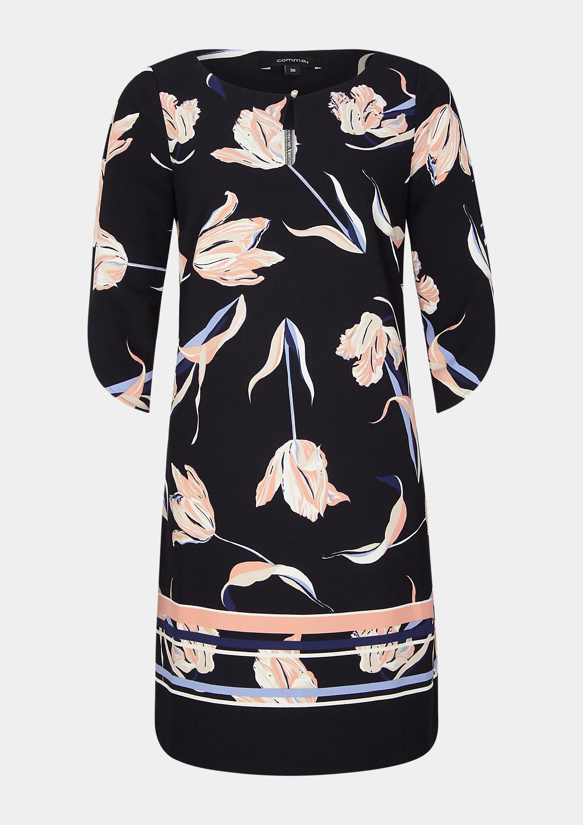 Kleid aus Crêpe