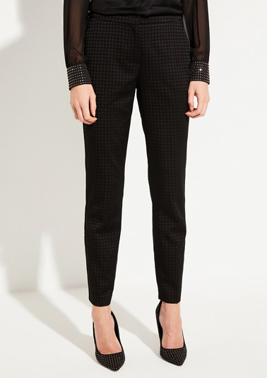 Trousers with an elegant jacquard pattern from comma
