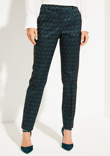 Elegant trousers with a jacquard pattern from comma