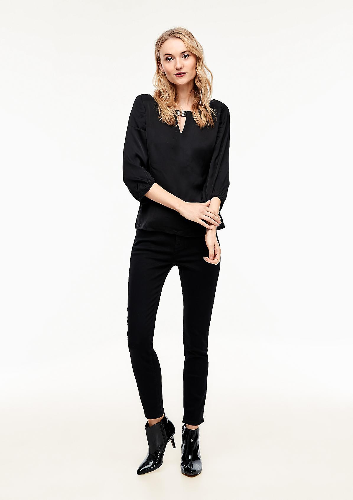 Slim-Fit-Hose mit Swarovski® Kristallen verziert