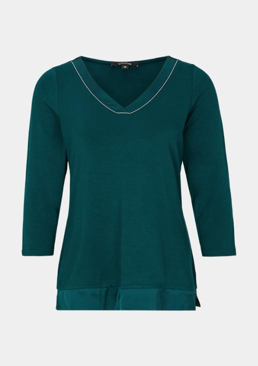 3/4-Arm Jerseyshirt mit Glitzersteinverzierungen