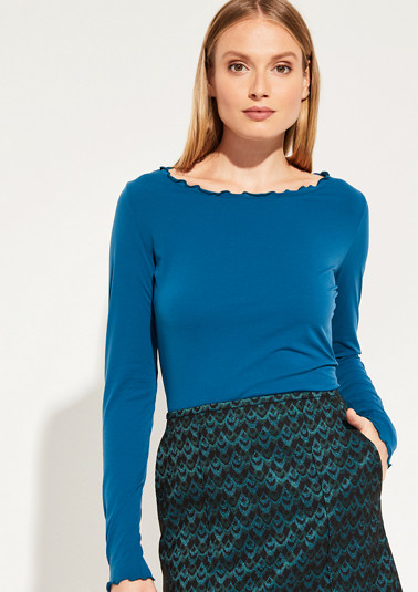 Long sleeve jersey top with sophisticated details from comma