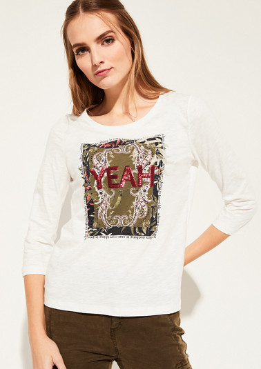 Jerseyshirt mit 3/4-Ärmeln