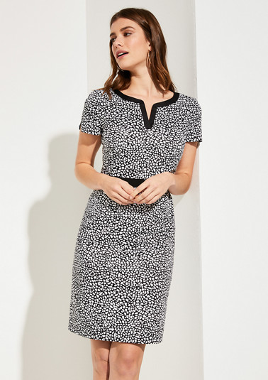 Dress with tunic neckline from comma