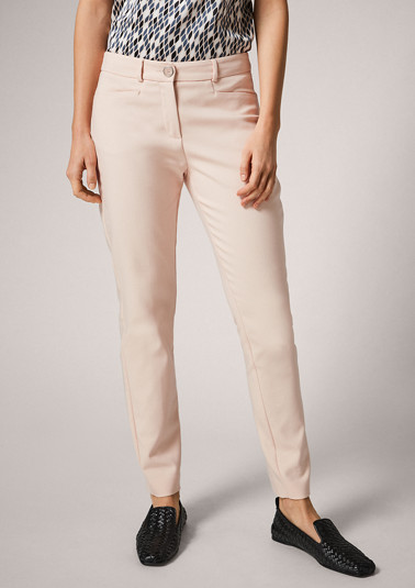 Regular Fit: Slim leg-Pants in an elegant look from comma