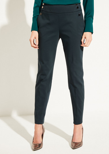 Elegant business trousers with shiny decorative buttons from comma