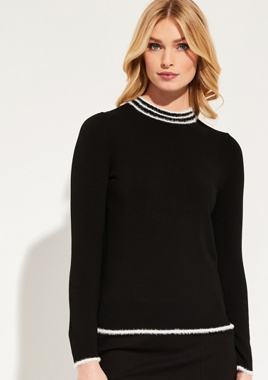 Fine knit jumper with decorative details from comma