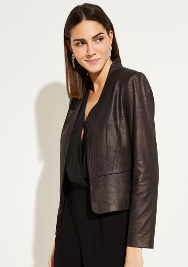 Soft faux leather blazer from comma