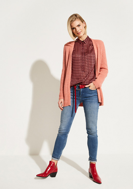 Delicate long sleeve blouse with a colourful all-over print from comma
