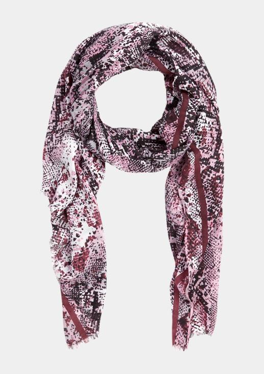 Schal mit dekorativem Snakeskin-Print
