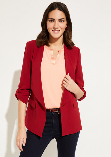Crêpe blazer with sophisticated details from comma