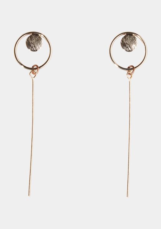 Runde Ohrstecker mit Stäbchenanhängern