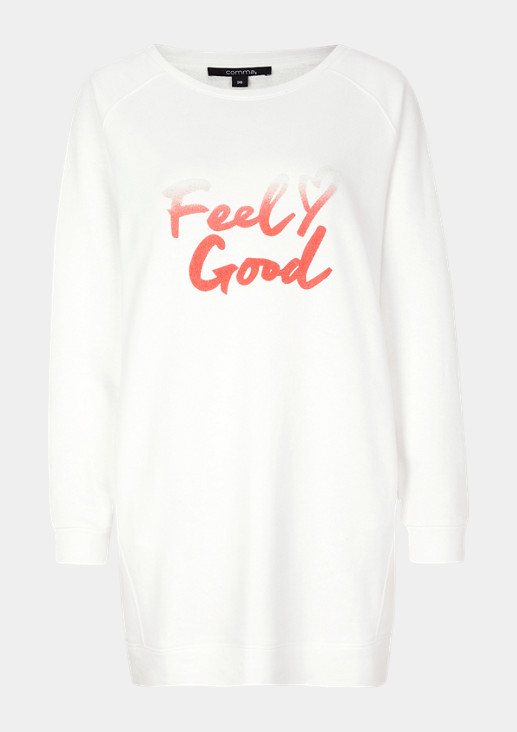 Long sleeve sweatshirt with an elaborate statement print from comma