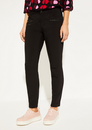 Cotton trousers with zip pockets from comma