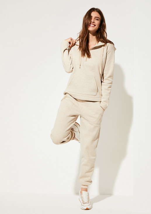 Sweatshirt with metallic accents from comma
