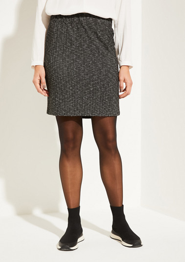 Mini skirt with a herringbone pattern from comma