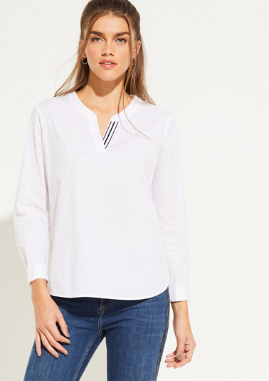 Long sleeve blouse with a V-neckline from comma