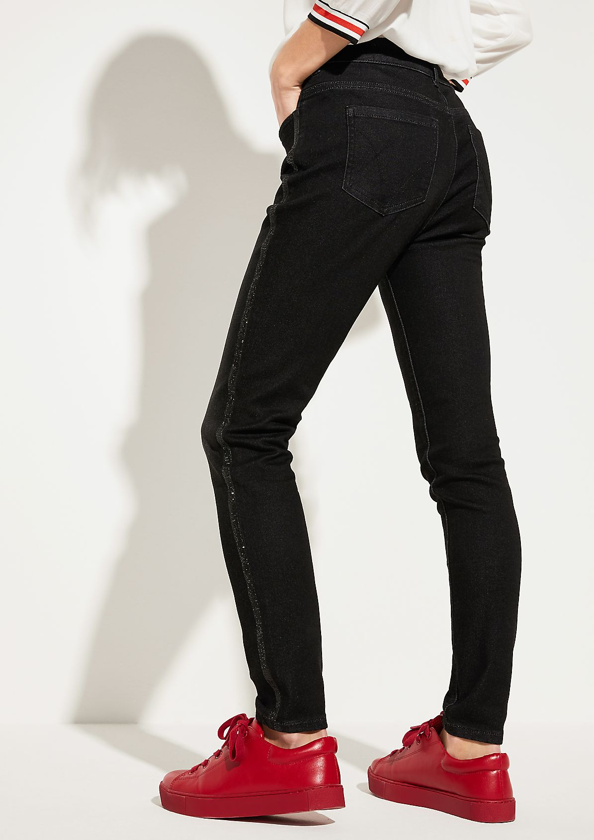Skinny Fit: Dunkle Stretchjeans