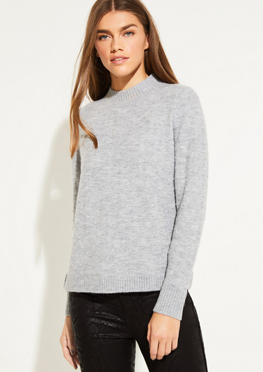 Fine knit jumper with a knot pattern from comma