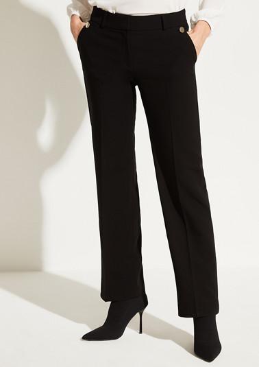 Businesshose mit silberfarbenen Zierknöpfen
