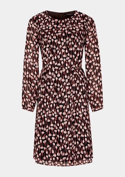 Zartes Kleid mit dekorativem Allovermuster