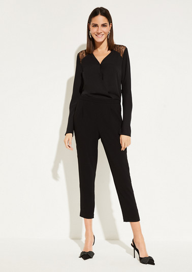 Jumpsuit with decorative lace embellishments from comma