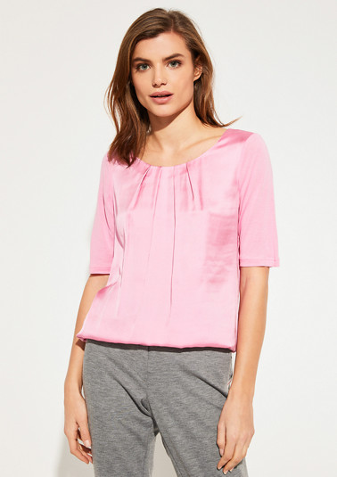 T-Shirt mit Blusen-Front