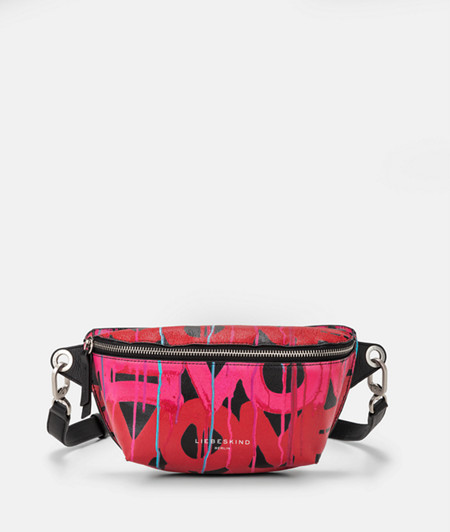 Belt wallet with a graffiti print from liebeskind