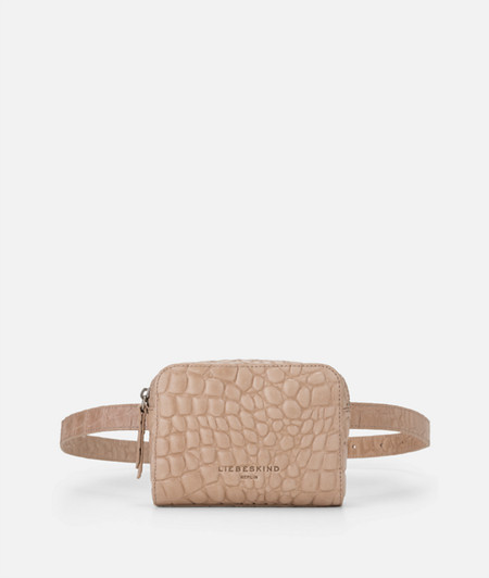 Box-shaped belt bag with crocodile embossing from liebeskind