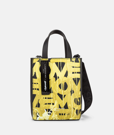 Tote bag with a graffiti print from liebeskind