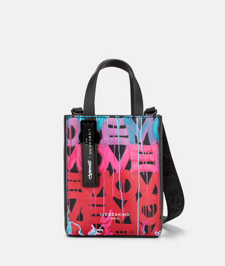 Shoulder bag with a graffiti print from liebeskind
